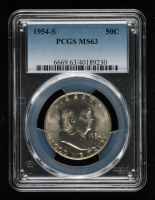 1954-S Franklin Silver Half Dollar (PCGS MS63) at PristineAuction.com