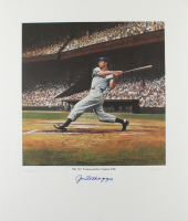 Joe DiMaggio Signed LE Yankees 23.5x27.5 Lithograph (PSA LOA) at PristineAuction.com