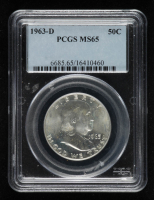 1963-D Franklin Silver Half Dollar (PCGS MS65) at PristineAuction.com