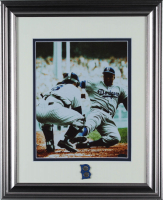 Jackie Robinson Dodgers 13x16 Custom Framed Photo Display With Pin at PristineAuction.com
