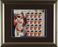 Babe Ruth Yankees 13x16 Custom Framed Uncut Postage Stamp Sheet Display With (16) Stamps (See Description) at PristineAuction.com
