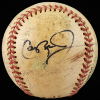 ONL Baseball Signed By (8) With Cal Ripken Jr., Harold Baines, Rafael Palmeiro (JSA COA) (See Description) at PristineAuction.com