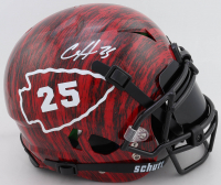 Clyde Edwards-Helaire Signed Full-Size Authentic On-Field Hydro-Dipped Vengeance Helmet With Visor (Beckett COA) (See Description) at PristineAuction.com
