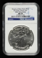 2013(W) American Silver Eagle $1 One Dollar Coin - First Releases, Struck at West Point Mint (NGC MS70) at PristineAuction.com