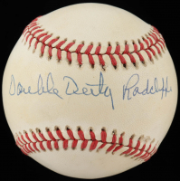 Double Duty Radcliffe Signed ONL Baseball (JSA COA) (See Description) at PristineAuction.com