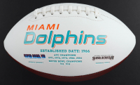 """Ricky Williams Signed Dolphins Logo Football Inscribed """"Grass Over Turf"""" (Radtke Hologram) (See Description) at PristineAuction.com"""