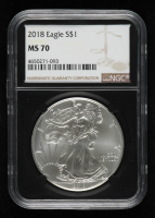 2018 American Silver Eagle $1 One Dollar Coin - Black Core Holder (NGC MS70) at PristineAuction.com