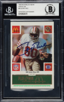 Jerry Rice Signed 1986 McDonald's 49ers Green Tab #80 (BGS Encapsulated) at PristineAuction.com