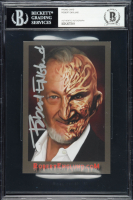 "Robert Englund Signed ""A Nightmare on Elm Street"" Promo Card (BGS Encapsulated) at PristineAuction.com"