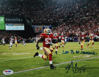 "NaVorro Bowman Signed 49ers 8x10 Photo Inscribed ""Last TD At Candlestick!"" (PSA COA) at PristineAuction.com"