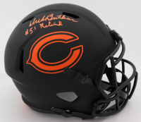 "Dick Butkus Signed Bears Full-Size Eclipse Alternate Speed Helmet Inscribed ""Retired"" (Beckett COA) at PristineAuction.com"