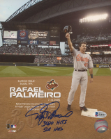 "Rafael Palmeiro Signed Orioles 8x10 Photo Inscribed ""3020 Hits"" & ""569 HRS"" (Beckett COA) at PristineAuction.com"