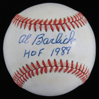 "Al Barlick Signed OAL Baseball Inscribed ""HOF 1989""  (JSA COA) (See Description) at PristineAuction.com"