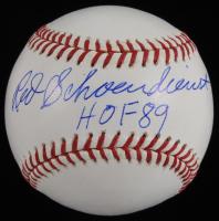 """Red Schoendienst Signed ONL Baseball Inscribed """"HOF 89"""" (JSA COA) at PristineAuction.com"""