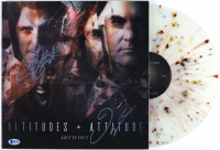 "Dave Ellefon & Frank Bello Signed Altitudes & Attitude ""Get It Out"" Vinyl Record Album Cover (Beckett COA) at PristineAuction.com"
