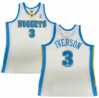 Allen Iverson Signed Nuggets Jersey (Fanatics Hologram) at PristineAuction.com