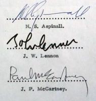 John Lennon & Paul McCartney Signed 1969 Document (PSA Encapsulated & PSA LOA) at PristineAuction.com