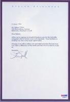 "Steven Spielberg Signed ""Schindler's List"" 22x25 Custom Framed 1995 Letter (PSA COA) at PristineAuction.com"