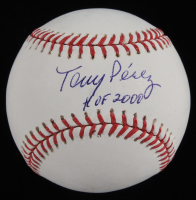 "Tony Perez Signed OML Baseball Inscribed ""HOF 2000"" (JSA COA) at PristineAuction.com"