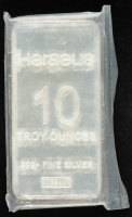 10 Troy Oz .999 Fine Silver Heraeus Mint Bullion Bar at PristineAuction.com