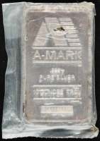 10 Troy Oz .999 Fine Silver A-Mark Bullion Bar at PristineAuction.com