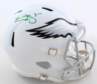 Donovan McNabb Signed Eagles Full-Size Matte White Speed Helmet (Beckett COA) at PristineAuction.com