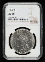 1896 Morgan Silver Dollar (NGC AU58) at PristineAuction.com