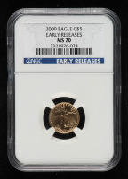 2009 American Gold Eagle $5 Five Dollar 1/10 oz Gold Coin - Early Releases (NGC MS70) at PristineAuction.com
