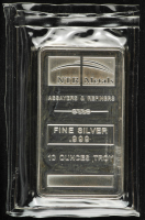 10 Troy Oz .999 Fine Silver NTR Metals Bullion Bar at PristineAuction.com