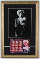 Marilyn Monroe 12x18 Custom Framed Photo Display with Uncut Stamp Sheet at PristineAuction.com
