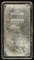 10 Troy Oz .999 Fine Silver Academy Bullion Bar at PristineAuction.com