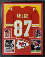 Travis Kelce Signed 34x42 Custom Framed Jersey (Beckett COA) at PristineAuction.com
