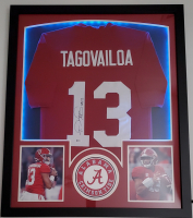 Tua Tagovailoa Signed 32x41 Custom Framed Jersey Display with LED Lights (Beckett Hologram) at PristineAuction.com