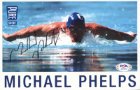 Michael Phelps Signed 5.5x8.5 Photo (PSA COA) at PristineAuction.com