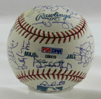 2005 Yankees OML Baseball Team-Signed by (29) with Derek Jeter, Mariano Rivera, Randy Johnson (PSA Hologram) at PristineAuction.com
