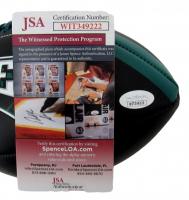 "Lane Johnson Signed Eagles Logo Football Inscribed ""SB LII Champs"" (JSA COA) at PristineAuction.com"