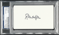 Robert Gates Signed 3x5 Cut (PSA Encapsulated) at PristineAuction.com