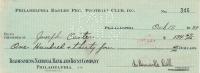 Bert Bell Signed 1937 Personal Bank Check (JSA Hologram) at PristineAuction.com