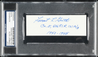 "Forrest Guth Signed 2x4.5 Cut Inscribed ""Co. E, 506 P.I.R, 101 A/B"" & ""1942-1945"" (PSA Encapsulated) at PristineAuction.com"