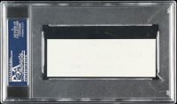 """Forrest Guth Signed 2x4.5 Cut Inscribed """"Co. E, 506 P.I.R, 101 A/B"""" & """"1942-1945"""" (PSA Encapsulated) at PristineAuction.com"""