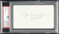 "James Verinis Signed 3x5 Cut Inscribed ""Capt."" & ""Pilot"" (PSA Encapsulated) at PristineAuction.com"