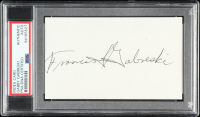 Gabby Gabreski Signed 3x5 Cut (PSA Encapsulated) at PristineAuction.com