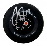Carter Hart Signed Flyers Logo Hockey Puck (Fanatics Hologram) at PristineAuction.com