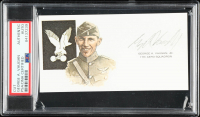 George A. Vaughn Jr. Signed 3x5 Cut (PSA Encapsulated) at PristineAuction.com