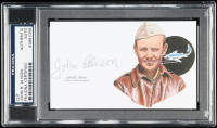 John R. Alison Signed 3x5 Cut (PSA Encapsulated) at PristineAuction.com