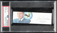 "Joe M. Jackson Signed 1.5x5 Cut Inscribed ""Apollo 15"" (PSA Encapsulated) at PristineAuction.com"