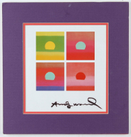 "Andy Warhol Signed ""Sunset Series"" 11x11.5 Custom Matted Print Display (Beckett ALOA) at PristineAuction.com"