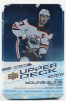 2020-21 Upper Deck Series 1 Hockey Tin Box with (10) Packs at PristineAuction.com