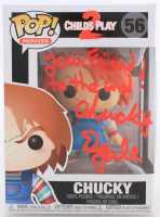"Ed Gale Signed ""Child's Play 2"" #56 Chucky Funko Pop! Vinyl Figure Inscribed ""Chucky"" & ""Your Friend To The End"" (ACOA COA) at PristineAuction.com"
