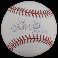 "Carlton Fisk Signed OML Baseball Inscribed ""HOF 2000"" (JSA COA) at PristineAuction.com"